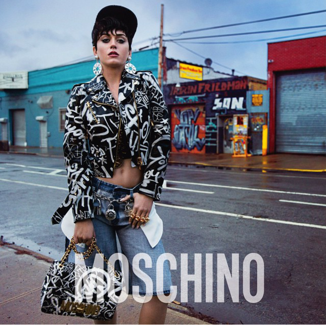 Katy perry shows us moschino campaign
