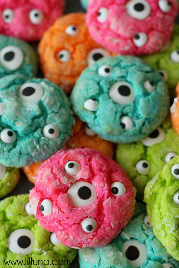 Delicious and Fun Recipe for No-Bake Nutella Monster Cookies   Fun Halloween Monster Cookies