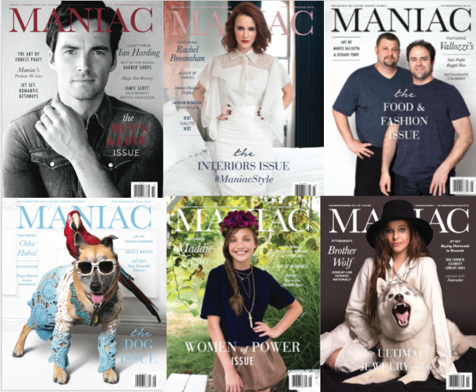 Maniac Magazine 2015 covers