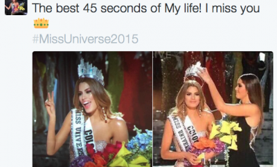 Miss Colombia good sport